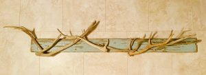hanging around - fully functioning antler and driftwood wall mounted coat rack